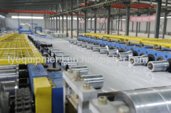 Cold roll forming machine for profile manufacture