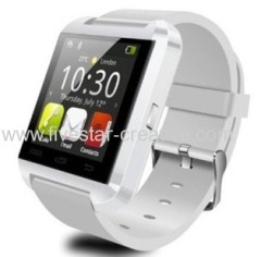 U8 New Stylish Touch Screen Bluetooth Smart Watch Wristwatch U8 U Watch for iPhone5/5S White
