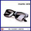 Glossy Black Sunglasses with Custom Logo