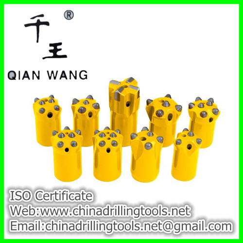 Button drill bit for crawler hydraulic bench drill