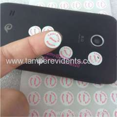 Custom warranty repair sticker for electronic products