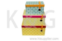 Patterned Rectangle Shoe Box Set