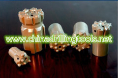 Tungsten carbide quarry button drilling bits