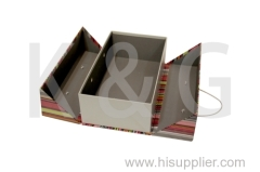 Strips Patterned Rectangle Shoe Box Set