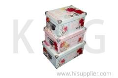 Rectangle Paper Shoe Box Set Flowers