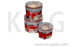 Snowman Patterned Round Box Set