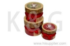 Santa Claus Patterned Round Box Set