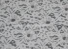 White Stretch Elastic Lace Fabric with AZO Free Dyeing for Nightwear