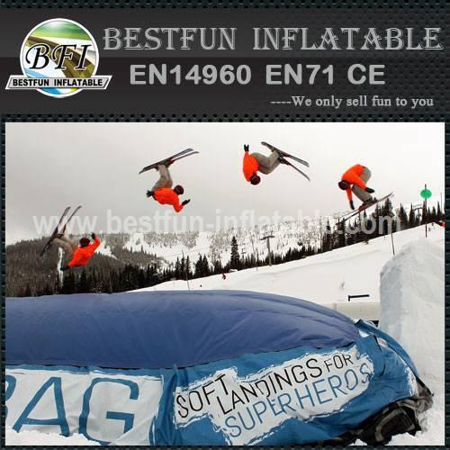 Logo Print Mountain Ski Landing Pad