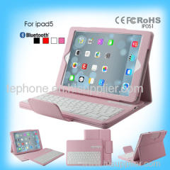 ipad5 colored leather keyboard case