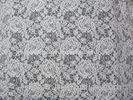 Flower Lace Cotton Nylon Lace Fabric White Knitted For Blouse