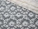 Eco-Friendly Floral Cotton Nylon Lace Fabric White Knitted For Lingerie