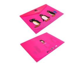 PVC / 4 colors / penguin buckle file folder