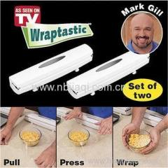 Cling film cutter Plastic cling flam cutter Wraptastic as seen on TV