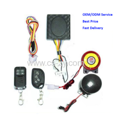 motorcycle remote alarm siren system