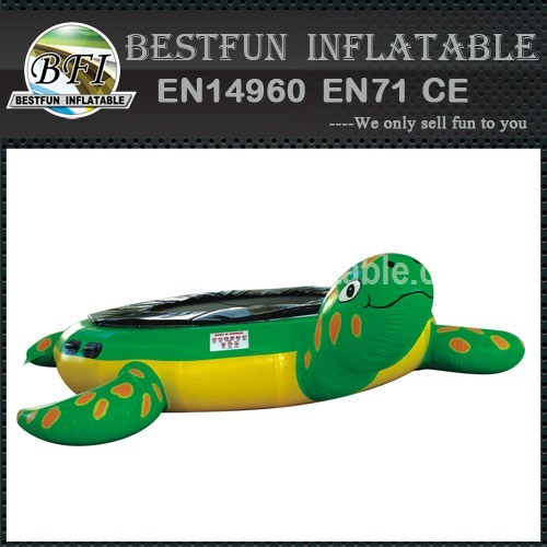 Inflatable Turtle Water Trampoline