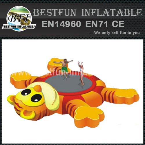 Inflatable Tiger Water Trampoline