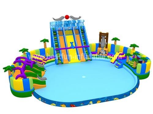 Hot summer Inflatable amusement water park