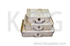 Orchid Patterned Suitcase Box Set
