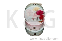 Half Round Suitcase Shape Paper Gift Box Set Flowers