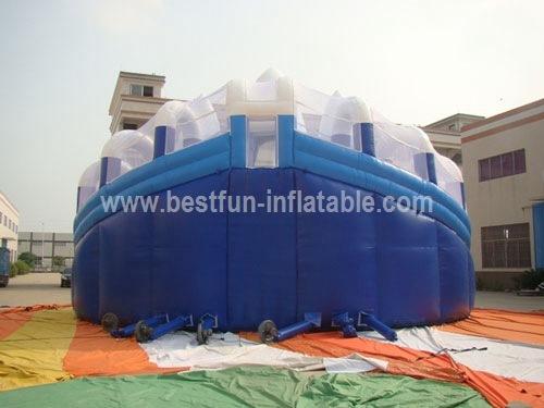 Commercial grade giant inflatable iceberg slide