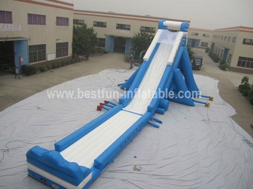 Inflatable giant hippo slide for amusement park