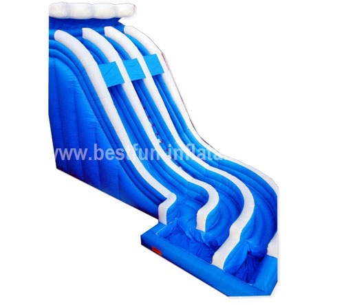 Ocean wave curved giant inflatable water slide