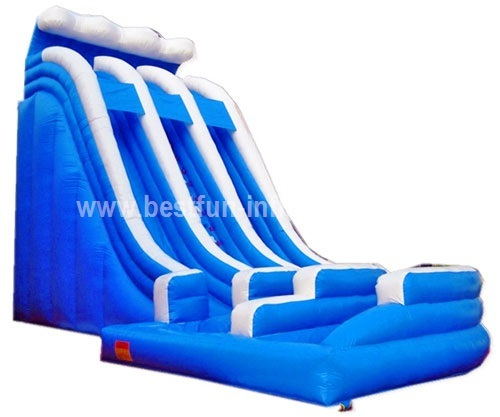 Inflatable Water Slide China: Ocean Wave Curved Giant Inflatable Water Slide