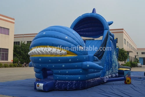 Rental Use Whale Giant Inflatable Water Slide