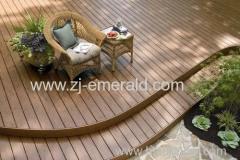 balcony wood plastic composite decking solid flooring 150*25mm