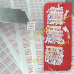 Self Adhesive Warranty Stickers