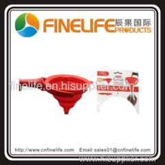 High quality silicone funnel silicone wine funnel folding silicone funnel
