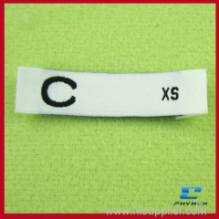 woven t shirt size labels
