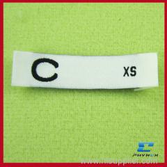 woven t shirt size labels