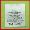 Wash care satin label tag