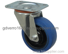 Industrial swivel ball bearing top plate fitting elastic rubber casters