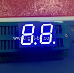 Ultra Blue dual digit 14.2mm 7 Segment LED Display for Digital Indicator / 25*17.1*8mm