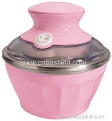 Automatic soft ice cream maker for home use