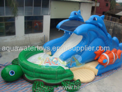 Sea Turtle Inflatable Water Slide