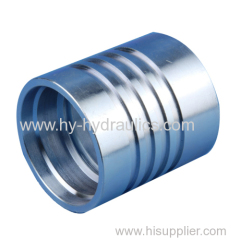 carbon steel interlock hydraulic hose ferrule fitting