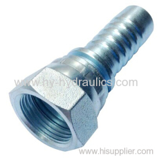 Carbon steel 45 Metric swaged hose fitting 20211