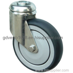 TPE smooth rolling bolt hole fitting shopping cart casters