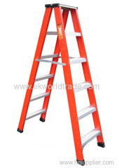 Fiberglass double side step ladder with CE