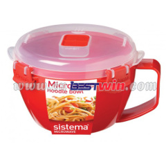 Plastic bowl set for microwave