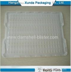 Plastic clamshell esd tray