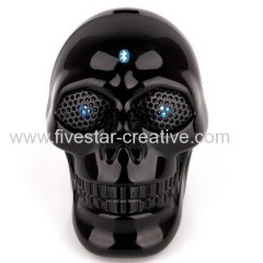 Mini Bluetooth Speaker with Flash Eyes Skull Design Super Portable Built-in Rechargeable Battery Great Sound Performance