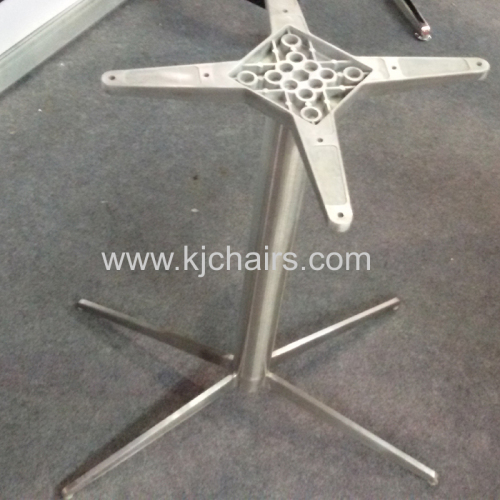 banquet table with cross stainless steel table leg