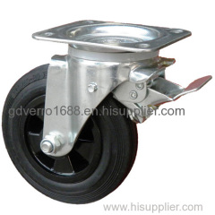 Impact-resistant high load capacity swivel garbage containers casters