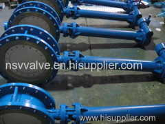 Electric cryogenic flange butterfly valve