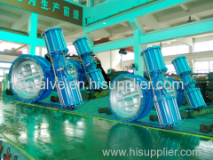 Pneumatic actuator flange end butterfly valve